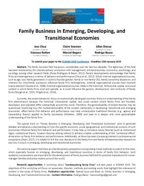 Family Business in Emerging